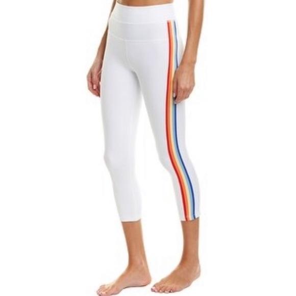 Spiritual Gangster Pants - Spiritual Gangster Rainbow Stripe Crop Pants.